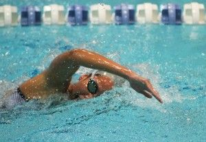Benitez leads swim team quietly