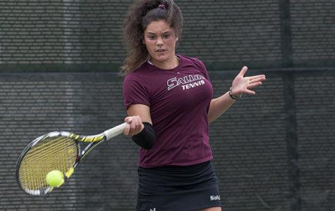 Freshman tennis player shows potential