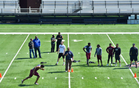Salukis perform on Pro Day