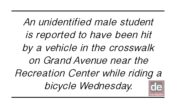 Student hit by vehicle