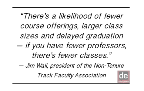 Non-tenure track faculty face uncertain future