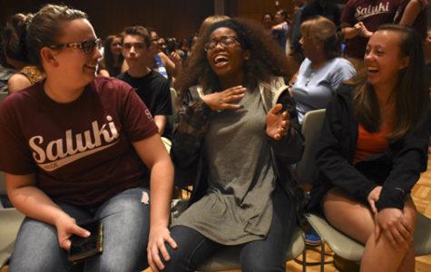 SIU grad returns to hypnotize students (PHOTOS)