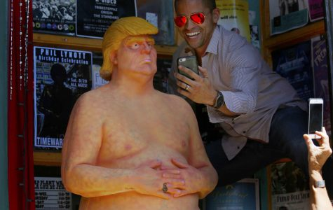 Florida man arrested in theft of naked Trump statue
