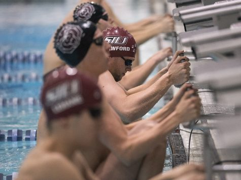Saluki men set new school record in 200-yard Medley Relay, finish Day 1 of MAC Swim & Dive Championship tied for third overall