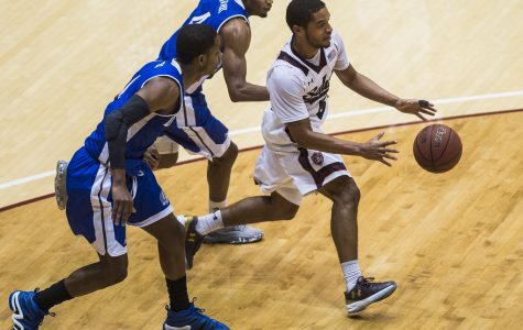 Shorthanded SIU men's basketball defeats Drake