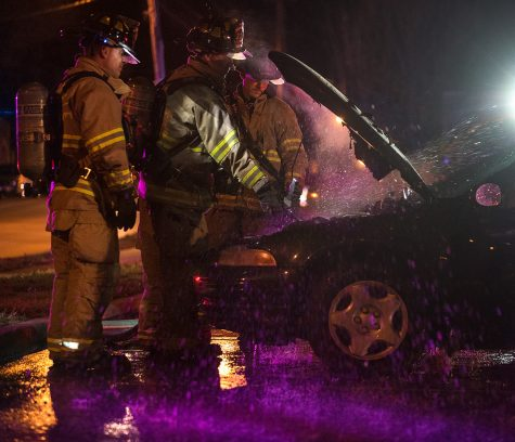 Photo of the Day: Dousing the engine