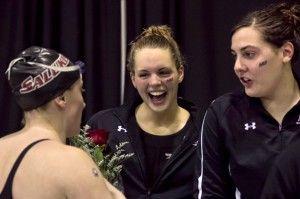 Saluki women grab third in MVC swimming and diving championships