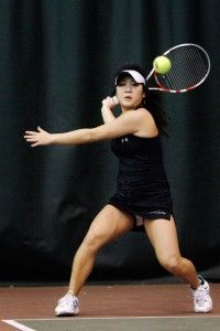 Women's tennis team improves to 9-0 in doubles play