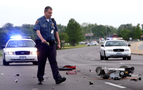 Man in wheelchair hit by SUV eastbound on 13
