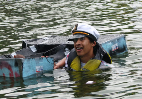 Students use design skills to keep boat afloat