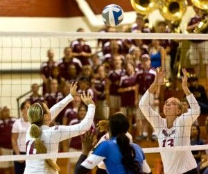 Volleyball drops two in 'little apple'