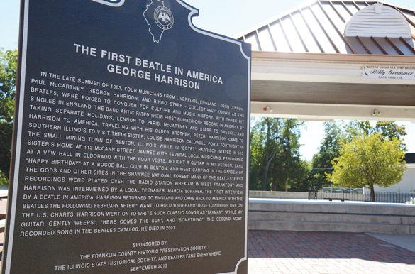 Benton honors Beatle's first visit