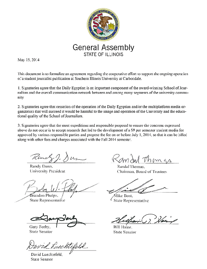 Lawmakers, school officials sign memorandum for DE