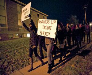 NAACP members host Ferguson rally