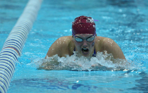 SIU swimming and diving slip in Purdue Invite