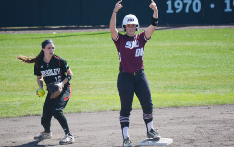 SIU softball sweeps Bradley in three game series