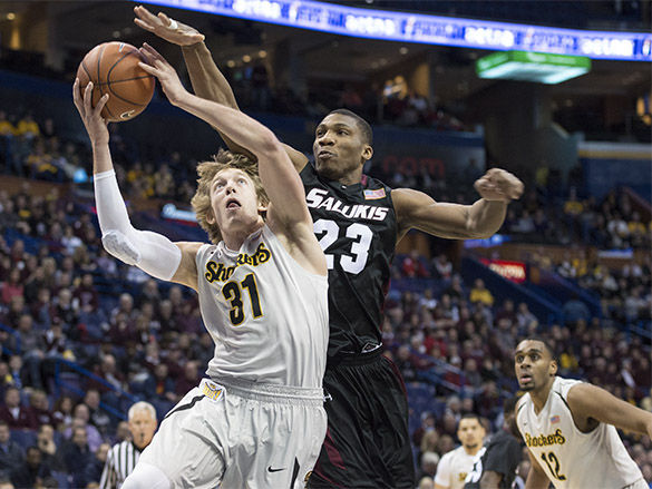 Salukis' season ends as Shockers advance