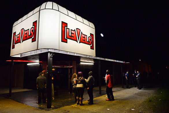 People wait to enter the Lil Wayne concert April 20, 2015, outside Levels nightclub in Carbondale. (DailyEgyptian.com file photo)
