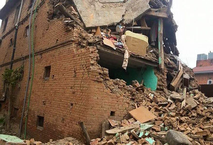 Student loses home to quake in Nepal