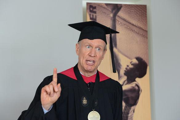 Rauner explains personal motives at graduation