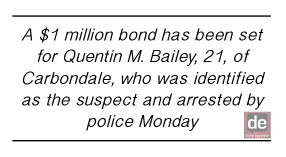 Carbondale police arrest man in Sunday shooting, bond set at $1M