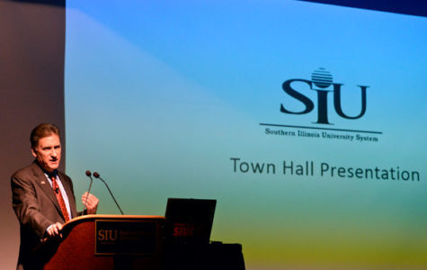 President Dunn speaks out at town hall meeting
