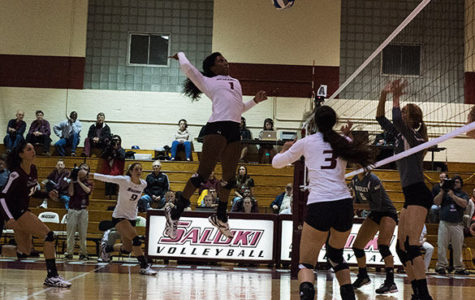 Volleyball starts homestand with a win against Braves