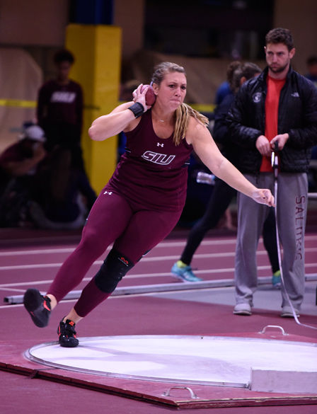 SIU thrower adapting to new event