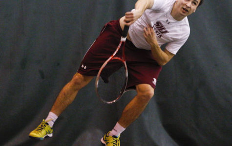 Polish professional tennis player adjusting to college game