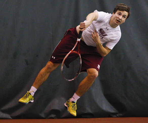 Polish professional tennis player adjusting to college game