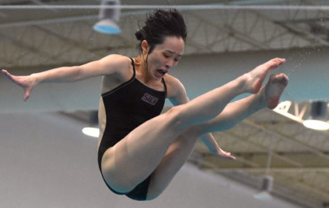 SIU swimming and diving win senior day in final tune-up before conference meets