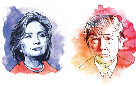 Illustrations of Hillary Clinton and Donald Trump. (TNS)