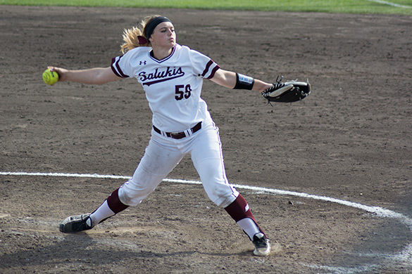 Saluki softball splits opening day doubleheader