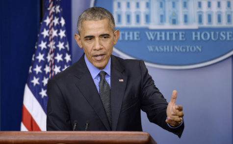 President Barack Obama speaks at an end-of-the-year press conference in the Brady Press Briefing Room at the White House on Dec. 18.(TNS)
