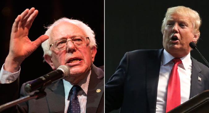 Sanders shocks Clinton in Michigan while Trump bucks GOP backlash