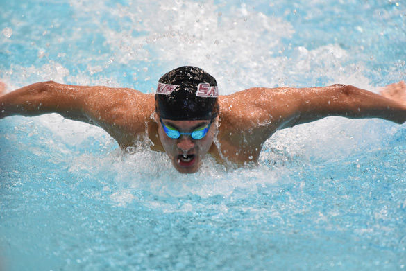 Men's swimming in diving in fourth after day one