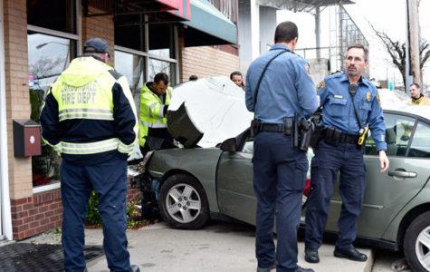Vehicle crashes into Pagliai's Pizza