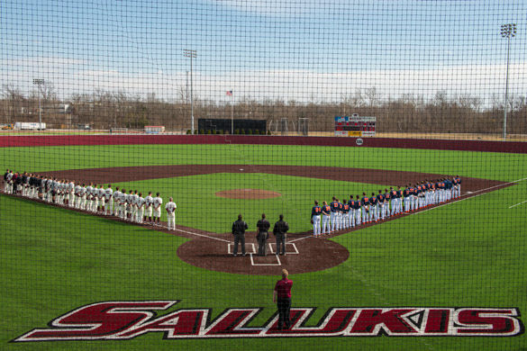 Itchy Jones Stadium, Home of Saluki Baseball. DE stock photo.