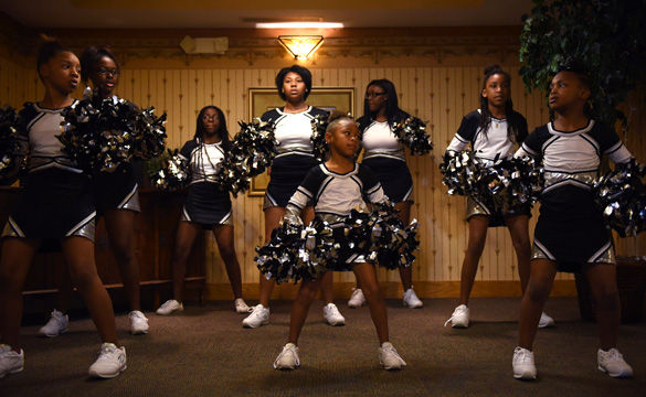 The Beautiful Ones prepare to perform their routine Thursday at Prairie Living in Chautauqua in Carbondale.