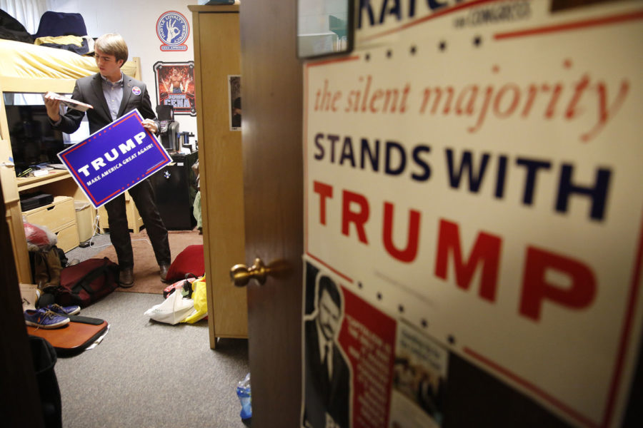 On campuses across the country, students are standing up for Donald Trump