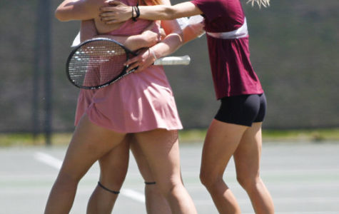 Women's tennis wins potential last home match