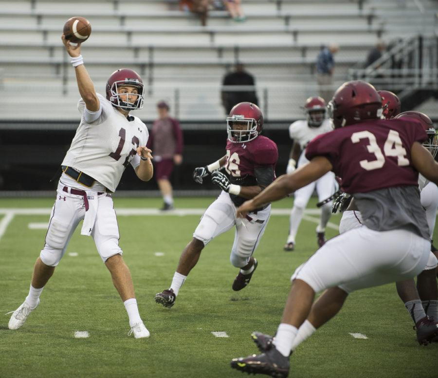 Senior+quarterback+Josh+Straughan+launches+a+pass+during+SIU%27s+fall+football+scrimmage+Saturday%2C+Aug.+20%2C+2016%2C+at+Saluki+Stadium+in+Carbondale.+%28Ryan+Michalesko+%7C+%40photosbylesko%29