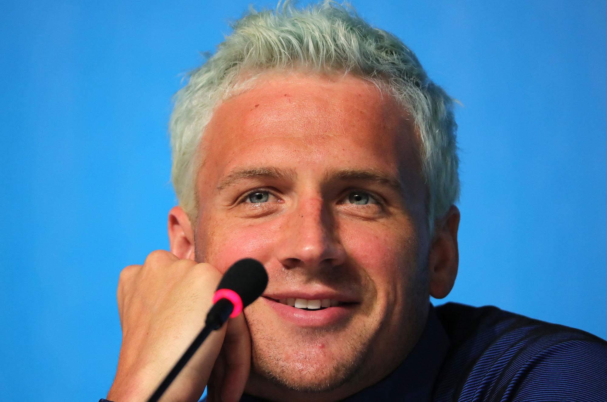 U.S. Olympic Swimmer Ryan Lochte is seen during the Swimming Press Conference of team USA at the Main Press Center at Olympic Park Barra prior to the Rio 2016 Olympic Games on Aug. 3, 2016, in Rio de Janeiro. (Michael Kappeler/DPA/Abaca Press/TNS)