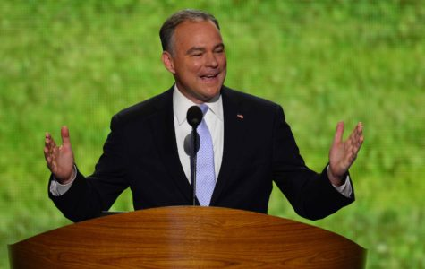 Former Virginia Gov. Tim Kaine speaks at 2012 Democratic National Convention at the Time Warner Cable Arena in Charlotte, North Carolina, Tuesday, Sept. 4, 2012. (Harry E. Walker/MCT)