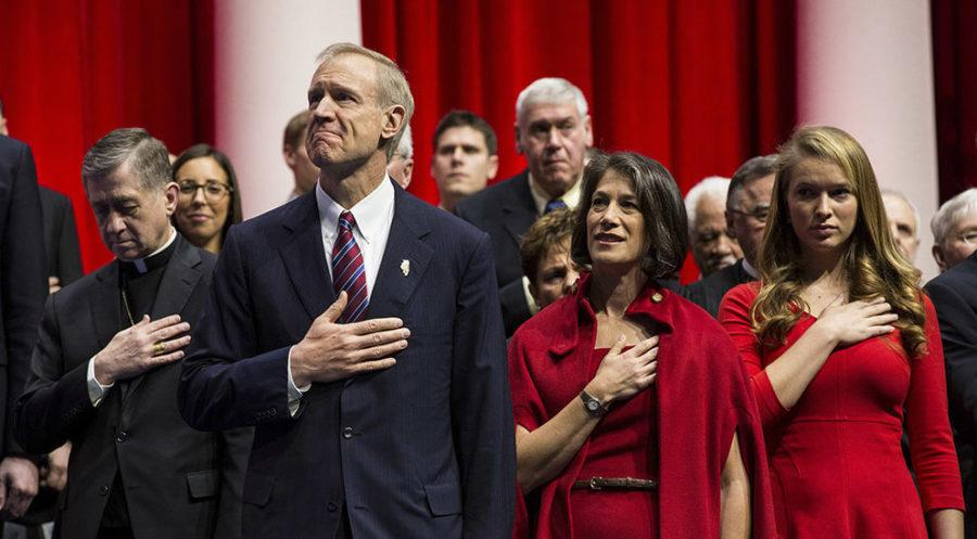 Bruce+Rauner+is+sworn+into+office+at+the+Prairie+Capital+Convention+Center+on+Jan.+12%2C+2015+in+Springfield.+%28Zbigniew+Bzdak%2FChicago+Tribune%2FTNS%29