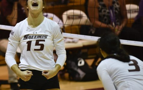 SIU volleyball gets back on track with win against Northern Iowa (PHOTOS)