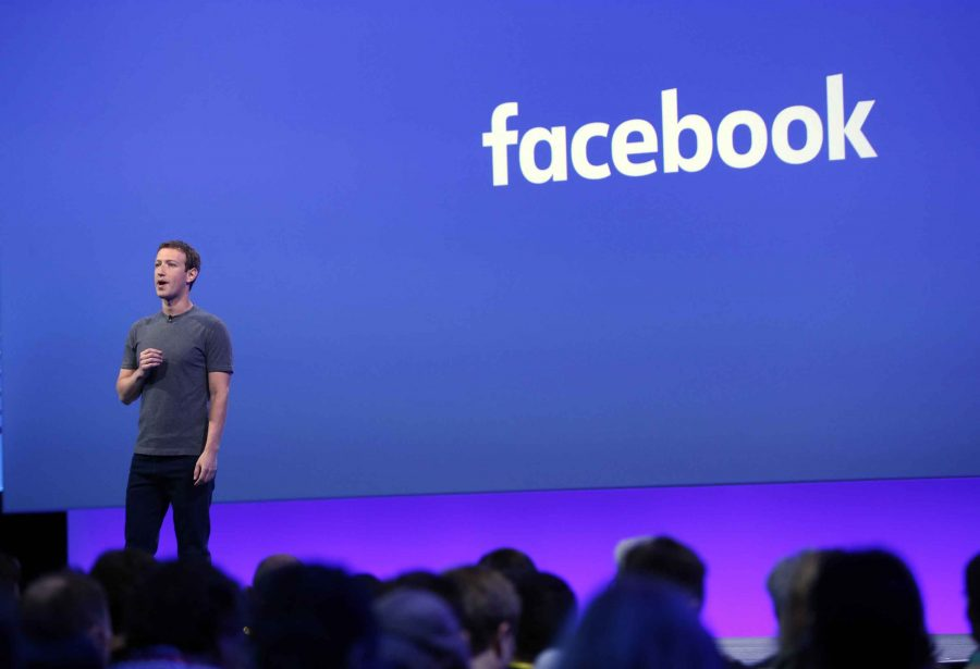 Mark Zuckerberg delivers the keynote speech at the Facebook's Developers Conference Tuesday morning, April 12, 2016, in San Francisco, Calif.  (Karl Mondon/Bay Area News Group/TNS)