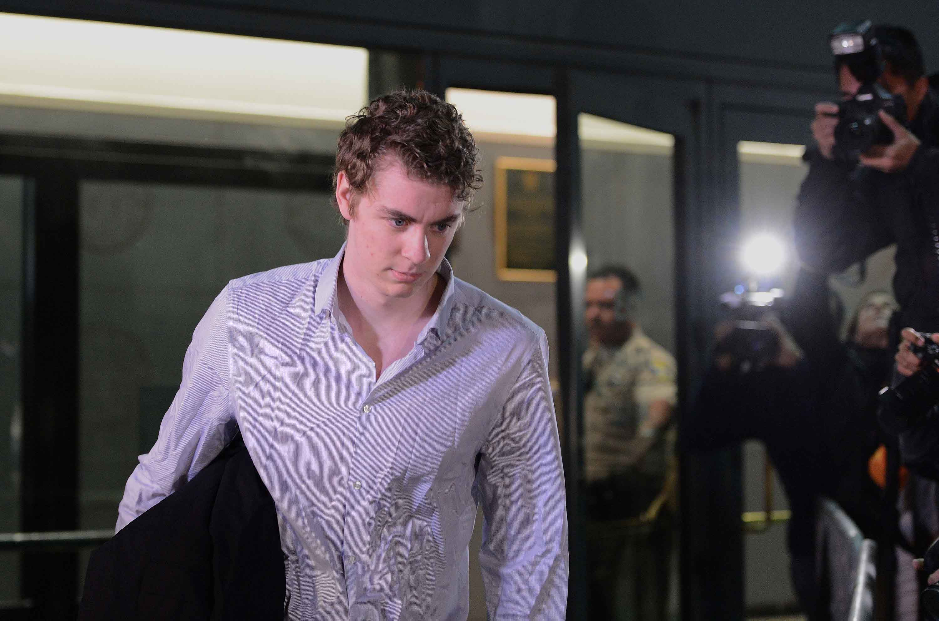 Brock Turner leaves the Santa Clara County Main Jail on Friday, Sept. 2, 2016 in San Jose, Calif. Turner was released after serving three months of his six month sentence for the sexual assault of an unconscious woman in January of 2015. The judge in the case, Aaron Persky, has come under fire for a sentence that many consider to be a slap on the wrist. (Dan Honda/Bay Area News Group/TNS)