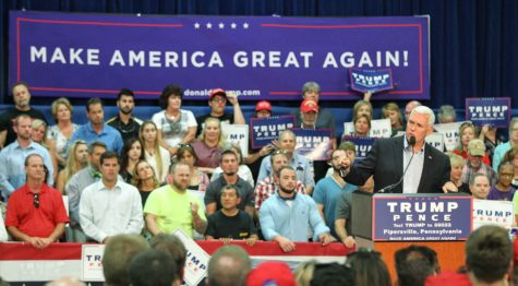 Republican vice presidential nominee Mike Pence speaks on Tuesday, Aug. 23, 2016 at Worth and Company in Pipersville, Pa. (Steven M. Falk/ Philadelphia Inquirer/TNS)