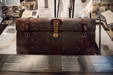 Traveling trunks used by George Thompson Garrison in the Civil War are on display at the Smithsonian National Museum of African American History and Culture on Sept. 14, 2016 in Washington, D.C. (Ken Cedeno/McClatchy/TNS)
